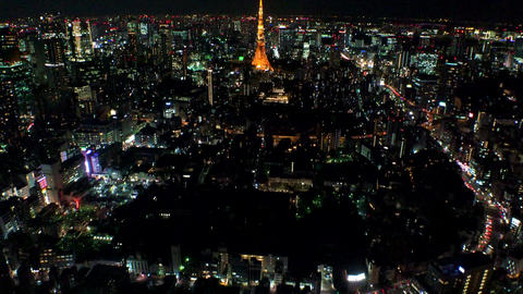 Japan Tokyo Tokyo tower and Tokyo landscape view from above October 2017 Live Action