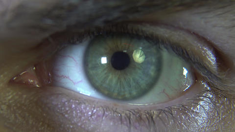 Close-up eye with red hologram Stock Video Footage
