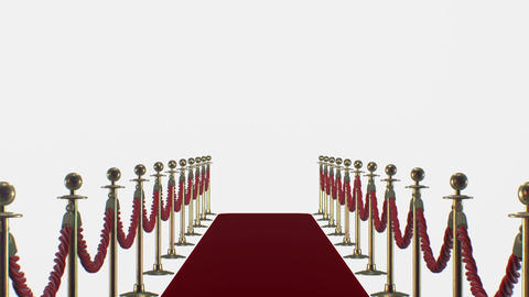 Red carpet on a white background Animation