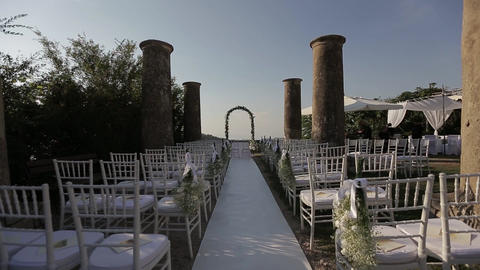 Beautiful vintage decoration for a wedding ceremony Live Action