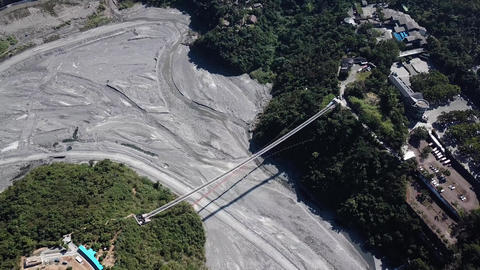 DJI MAVIC 4K Taiwan Pingtung Aerial Drone Video Baibin Mountain Liouli bridge Footage