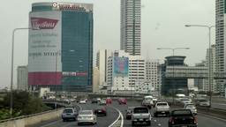Thailand Bangkok 005 skyscrapers at the highway Footage