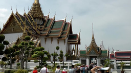 Thailand Bangkok 066 royal palace, dreamlike palace buildings Footage