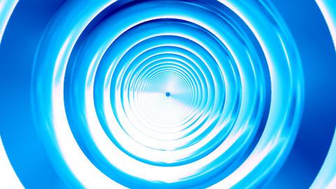 Broadcast Endless Hi-Tech Tunnel, Blue, Corporate, 4K Animation