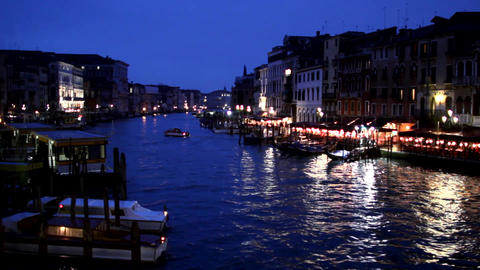 Canale Grande by night, Venice, Venezia Footage