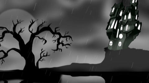 Scarey haunted house Animation