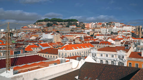 Lisbon Panorama. Aerial view. Lisbon is the capital and the largest city of Footage