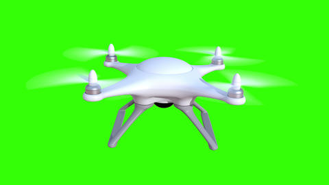 Quadcopter on a green background Animation