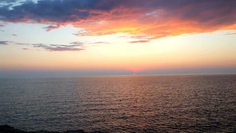 Sunset on the beach Image