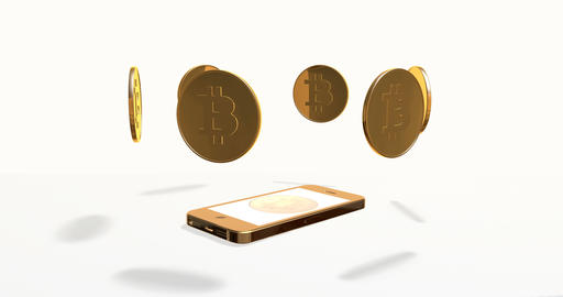 Crypto currency is bitcoin and smartphone Bild