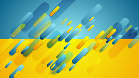 Blue and yellow contrast tech corporate video animation Image