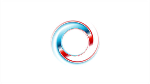 Blue red ring on white background video animation Stock Video Footage