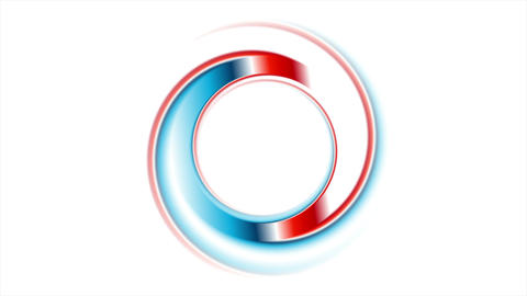 Blue red ring on white background video animation Animation