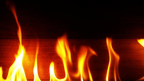 Fire Burning and Wooden Background 영상물