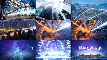 Original atmosphere city technology internet light shuttle version AE template After Effects Template