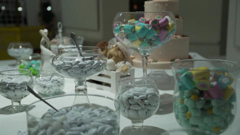 Candy Bar Wedding, candy buffet, chocolate fountain, cakes 영상물