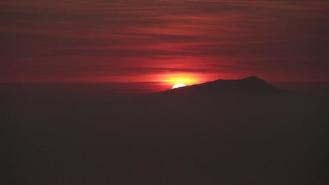 beautiful sunrise over mountain Footage