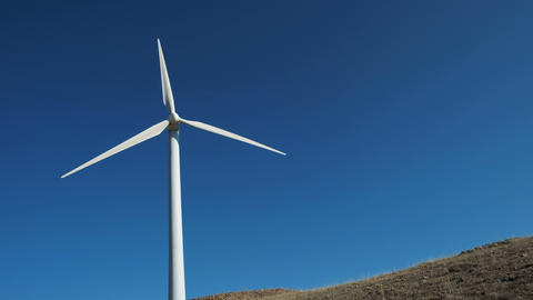 Wind power windmill station production energy Footage