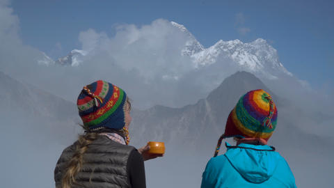Girls in the Himalayas Footage