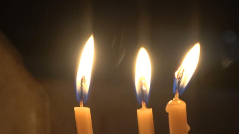 Three Candles Close Up Live Action