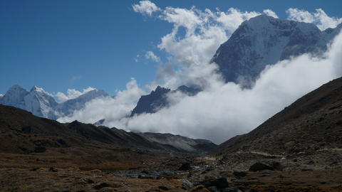 Movement of clouds against the background of the Himalayan mountains Footage