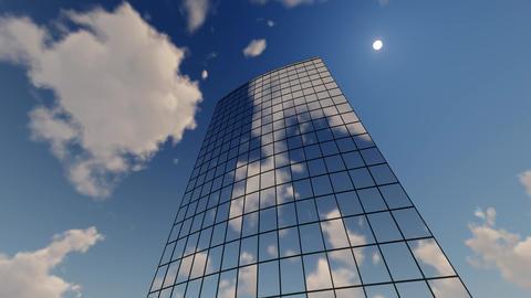 Skyscraper Corporate buildings and clouds Footage