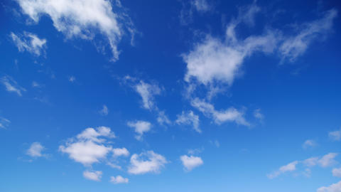Timelapse - Blue sky and clouds movement Image