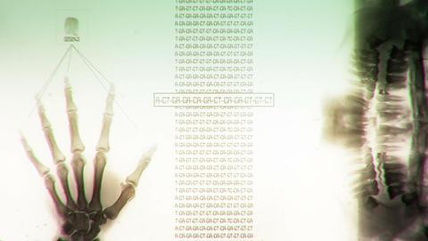 Futuristic DNA Analysis Sci Fi Style Archivo