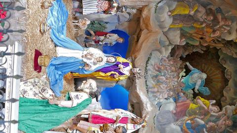 Vertical video. Scene in Santa Maria in Aracoeli. Rome, Italy Live Action