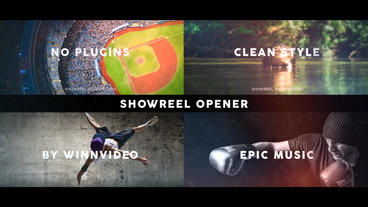 Showreel Opener After Effects Templates