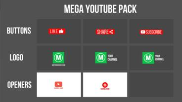 MEGA Youtube Pack Premiere Pro Template