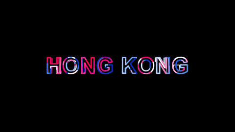 Letters are collected in country name HONG KONG, then scattered into strips Animation