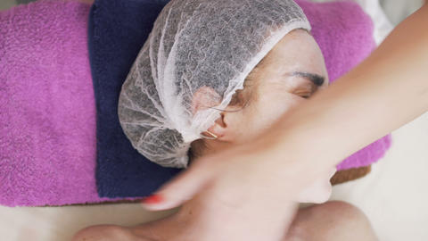 Procedure of facial massage in beauty clinic Footage