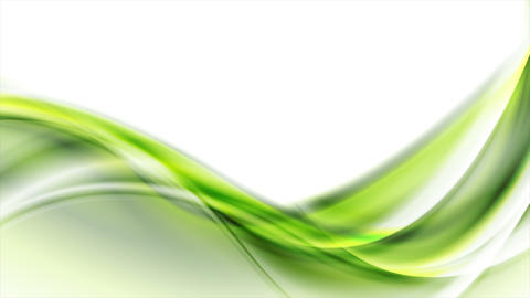 Green abstract flowing dynamic waves motion design Stock Video Footage