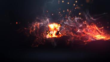 Fire Logo Plantilla de After Effects
