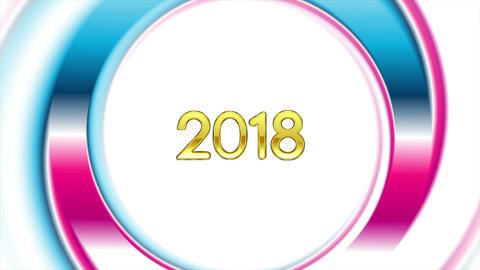 Blue pink ring New Year 2018 video animation Image