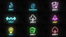 Neon Lights Big Pack モーショングラフィックステンプレート