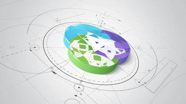 A sketch of the architecture Outlines the AE project of logo logo. 3 version 2 Plantilla de After Effects