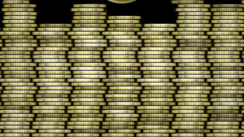 Dollar animation, golden coin with american dollar symbol moving on background Animation
