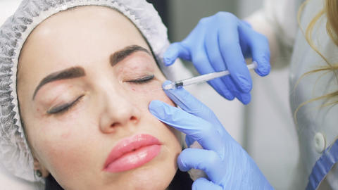 Botox procedure in beauty clinic Footage
