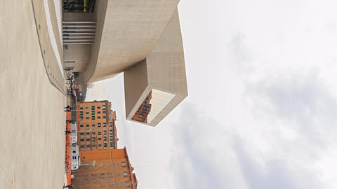 Vertical video. National Museum of the XXI century (MAXXI). Rome, Italy. Time Footage