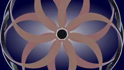 Rotation of two circles, optical illusion Animation