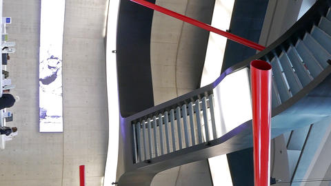 Vertical video. Vestibule MAXXI. Rome. Italy Footage