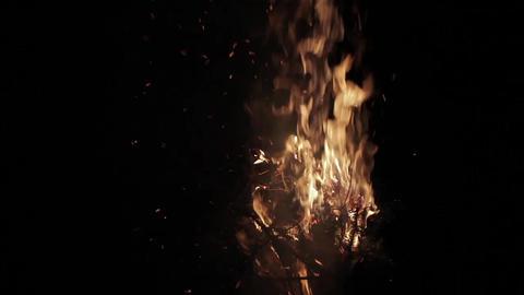 Flames Of A Campfire At Night 50p Bild