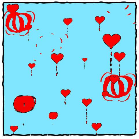 Cartoon Hearts Stock Video Footage