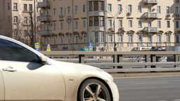 4K Urban Transport Traffic On Leningradskoye Shosse Timelapse, Moscow, Russia Footage