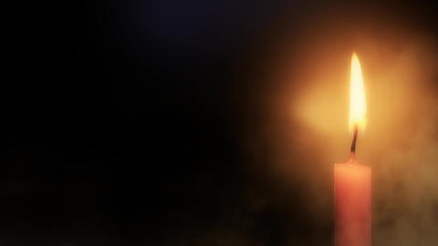 Candle Flame Burning in 4K Animation