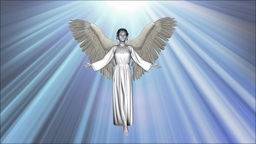 Angel takes off to the heavenly light Footage