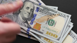 Counting Money - Us $100 Dollar Bills Footage