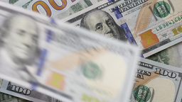 Money Falling Down - Us $100 Dollar Bills Footage